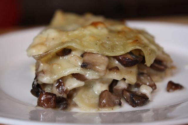 lasagna con funghi porcini