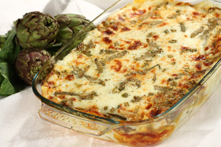 Lasagne alla crema di carciofi la ricetta pourfemme for Ricette con carciofi