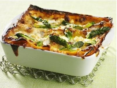 Lasagne in bianco con gli asparagi