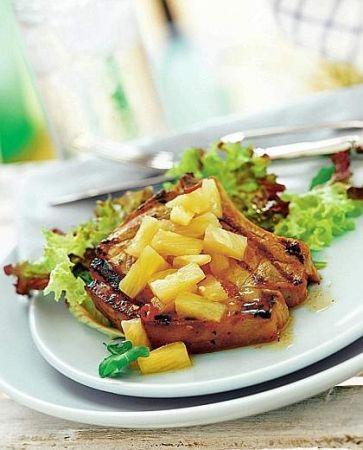 braciole di maiale all'ananas