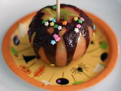 mele caramellate al cioccolato