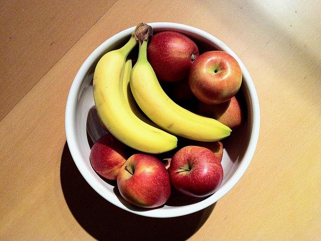 mele e banane nei dolci