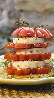 Millefoglie di pomodori e scamorza
