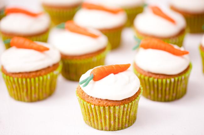 muffin alle carote decorati ricetta