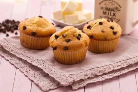 muffin con gocce di cioccolato ricetta