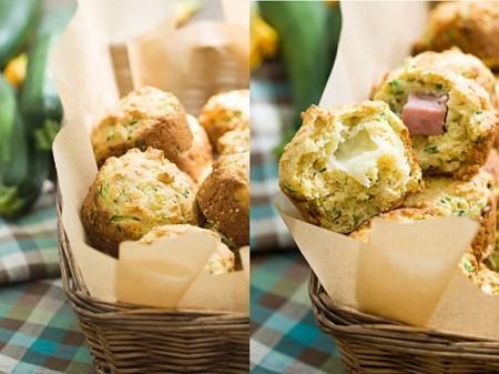 muffin zucchine prosciutto