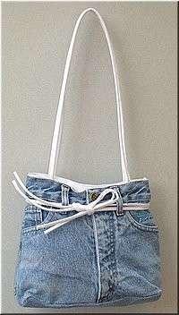 borsa di jeans fai da te