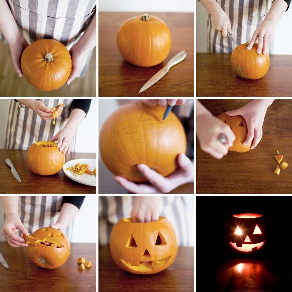Intagliare Zucca Per Halloween Disegni come fare la zucca di halloween [foto] | pourfemme