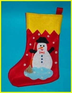 In feltro con pupazzo di neve