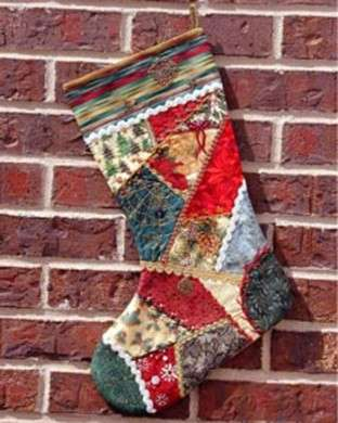 Patchwork di stoffe varie