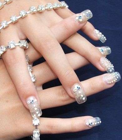 Ricostruzione unghie con glitter