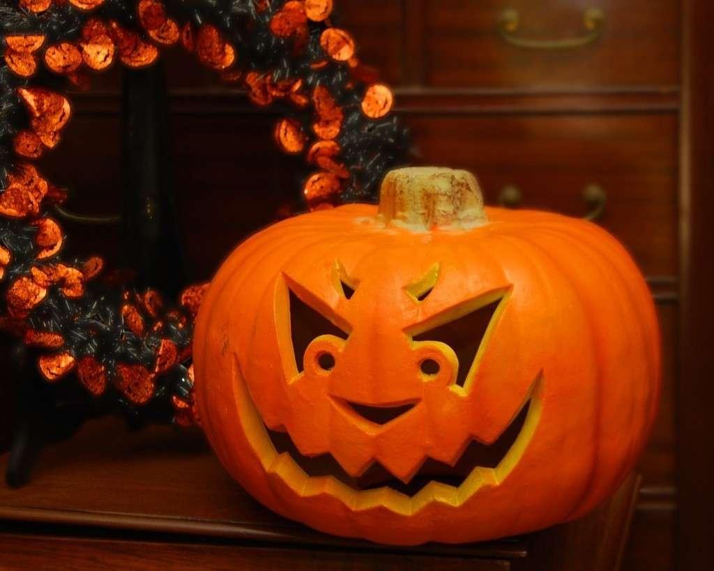 Zucca di Halloween curiosa