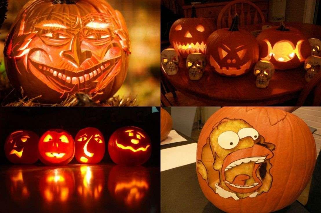 Zucca di Halloween intagli originali