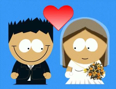 Biglietto di auguri per gli sposi
