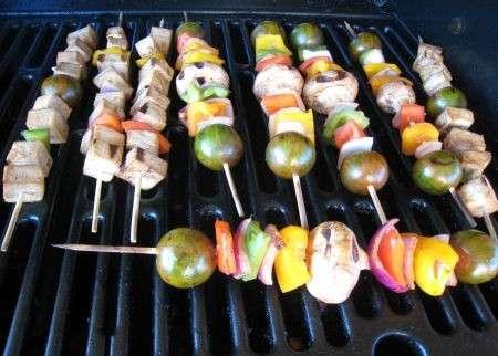Ricetta spiedini alla griglia con verdure