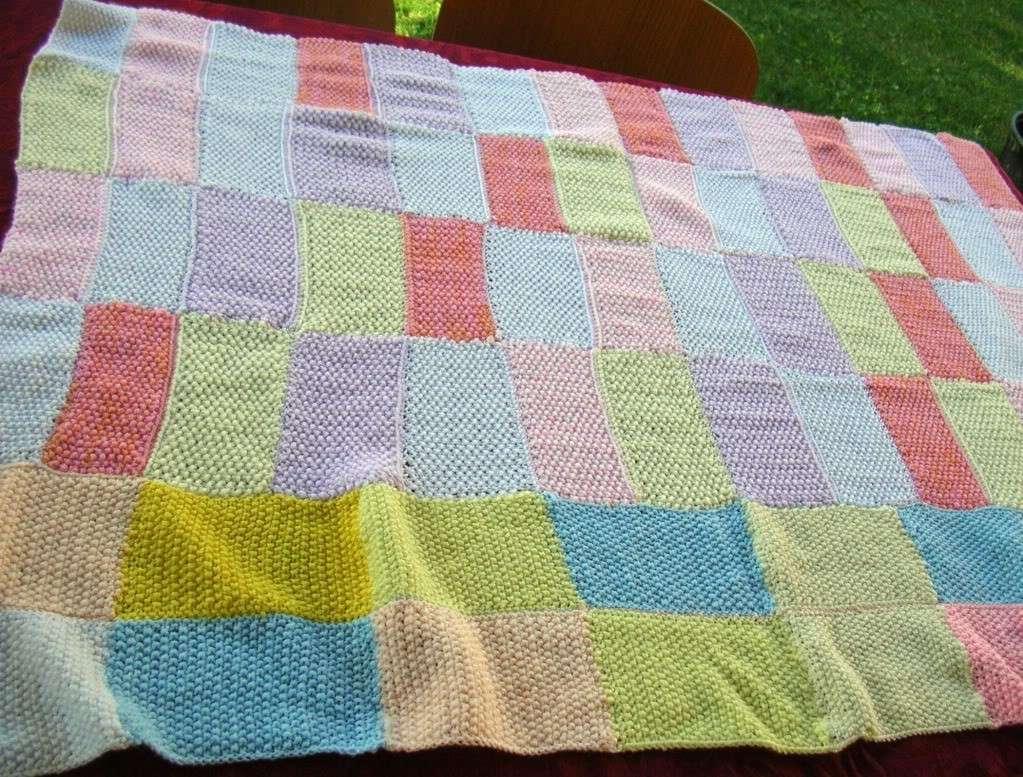 Copertina di lana a patchwork