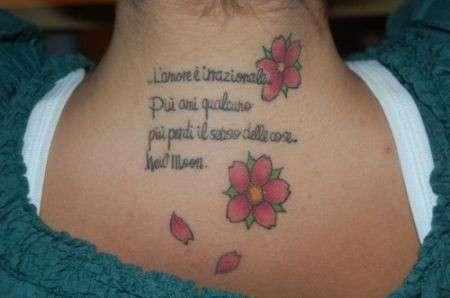 Tattoo sul collo