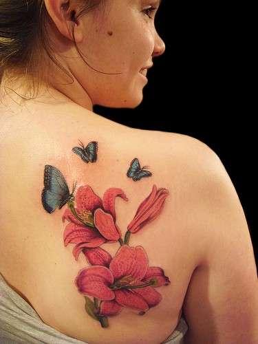 Fiori Tatuati.Tatuaggi Fiori