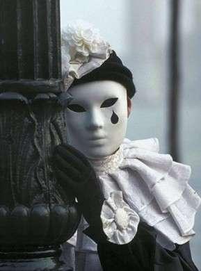 maschera veneziana pierrot