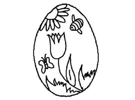Disegno di Pasqua con apine