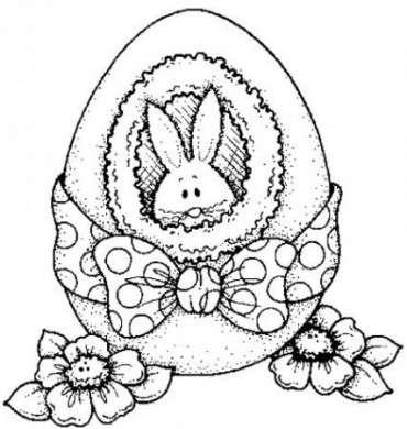Disegno di Pasqua con coniglietto