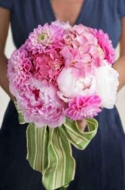 Bouquet Sposa Peonie E Ortensie.Fiori Matrimonio Peonie E Ortensie