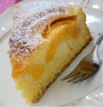 torta con pesche e albicocche