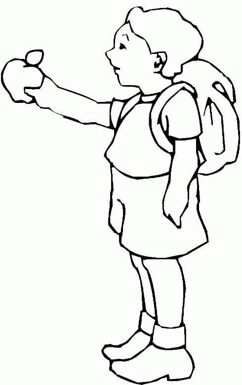 Un bambino che va a scuola