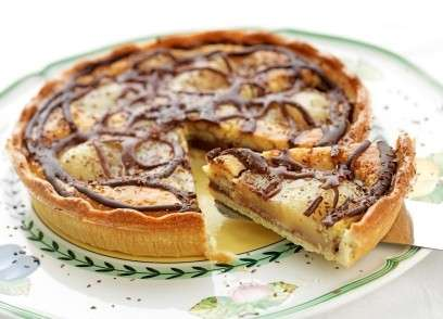 Crostata con pere cioccolato