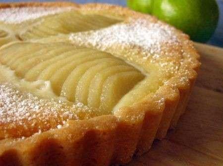 Crostata con pere fetta