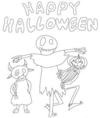 Disegno per bambini Happy Halloween