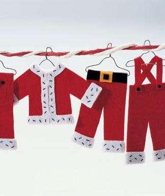 Addobbi di Natale in feltro vestitini