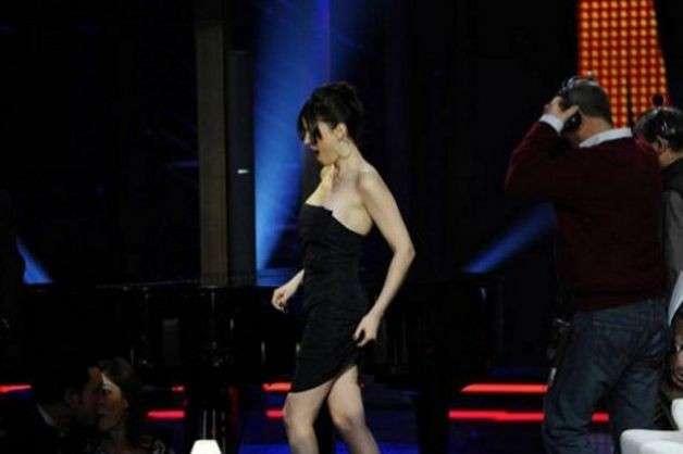 La showgirl senza mutande al Chiambretti Night