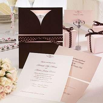 Partecipazioni di matrimonio e menu