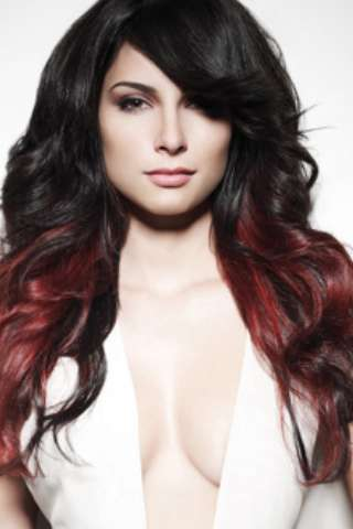 Ombre hair rosso intenso