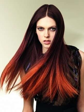 Ombre hair rosso very chic