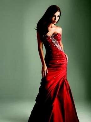 Abito da sposa rosso sirena
