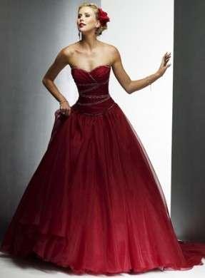 Abito da sposa rosso tulle