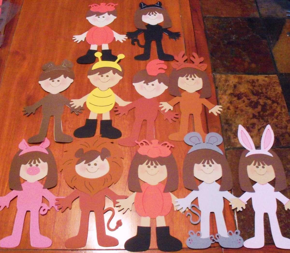 Halloween bamboline di carta