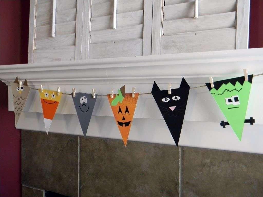 Halloween bandierine di carta