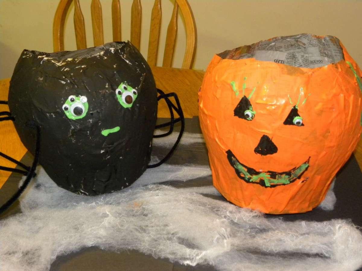 Lavoretti Halloween per bambini borse zucche