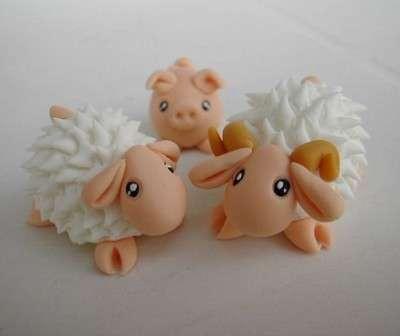 Le pecorelle con la pasta di sale