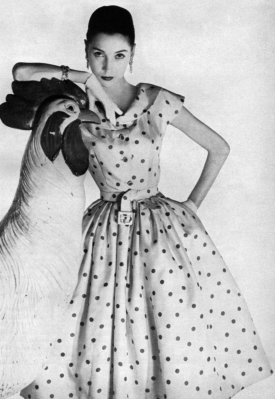 Moda anni '50, il classico abito a pois