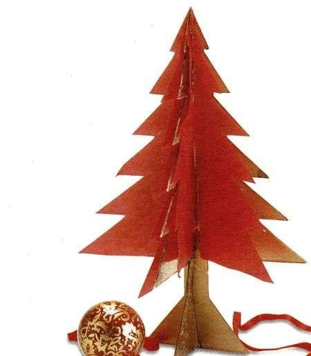 Albero Natale tridimensionale compensato