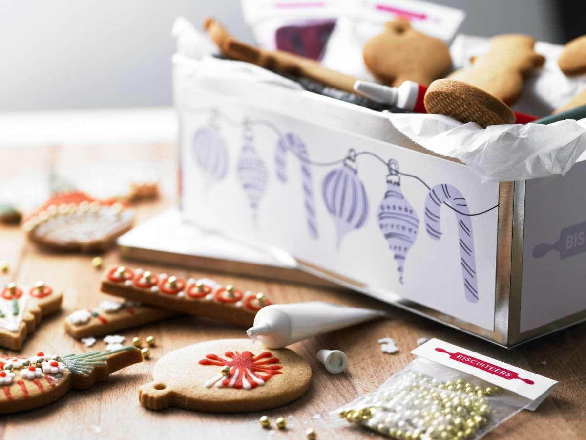 Decorazioni natalizie biscotti