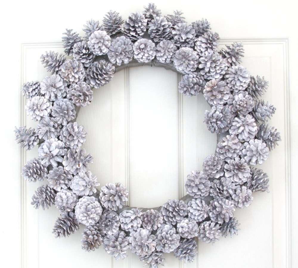 Ghirlanda di Natale argento