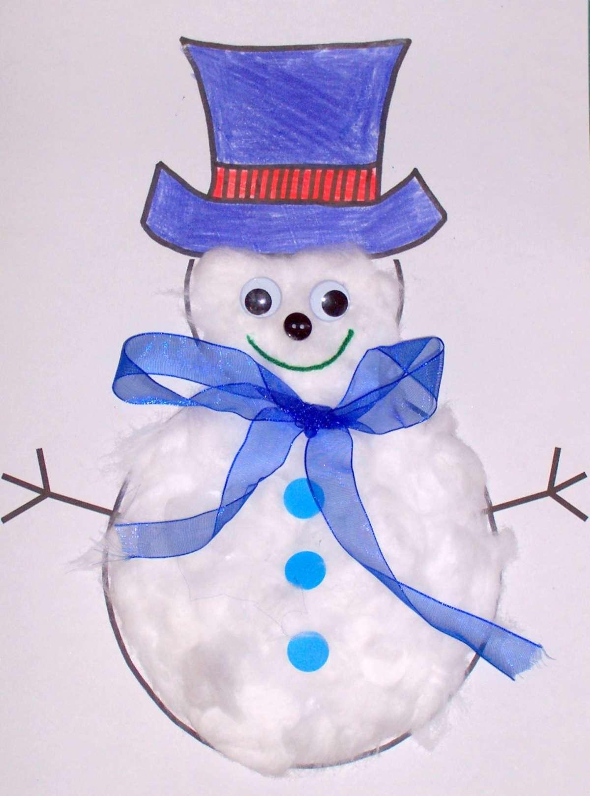 Lavoretti Natale per la scuola dell'infanzia pupazzo neve