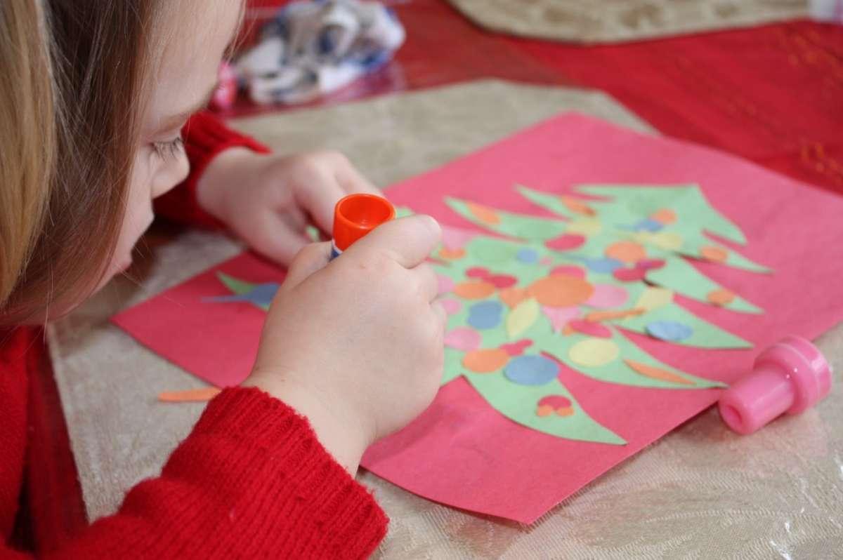 Lavoretto Natale per la scuola primaria: collage