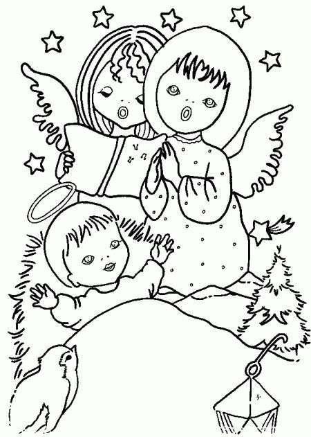 Presepe con angeli