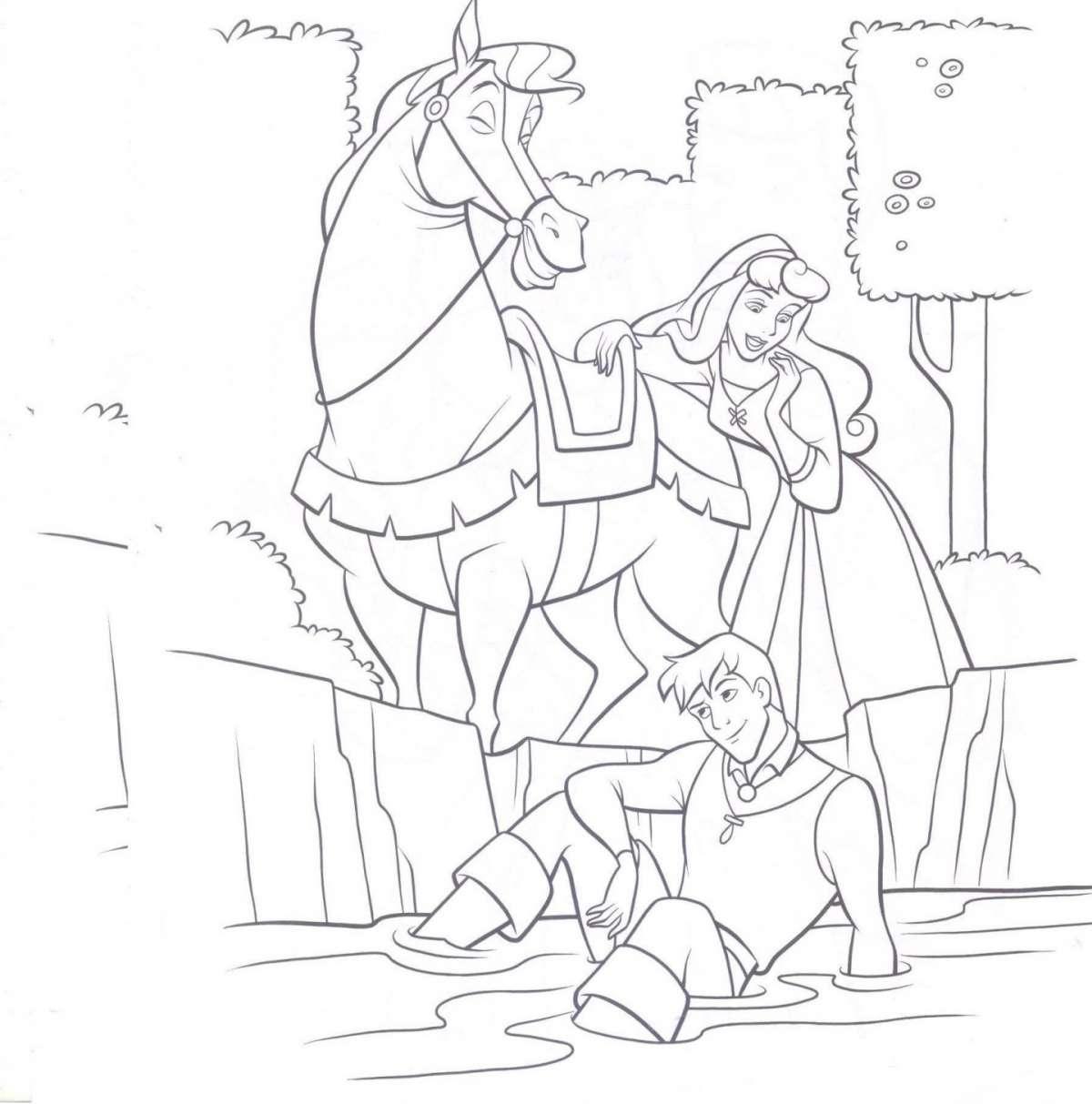 Principesse Disney da colorare Bella Addormentata Principe